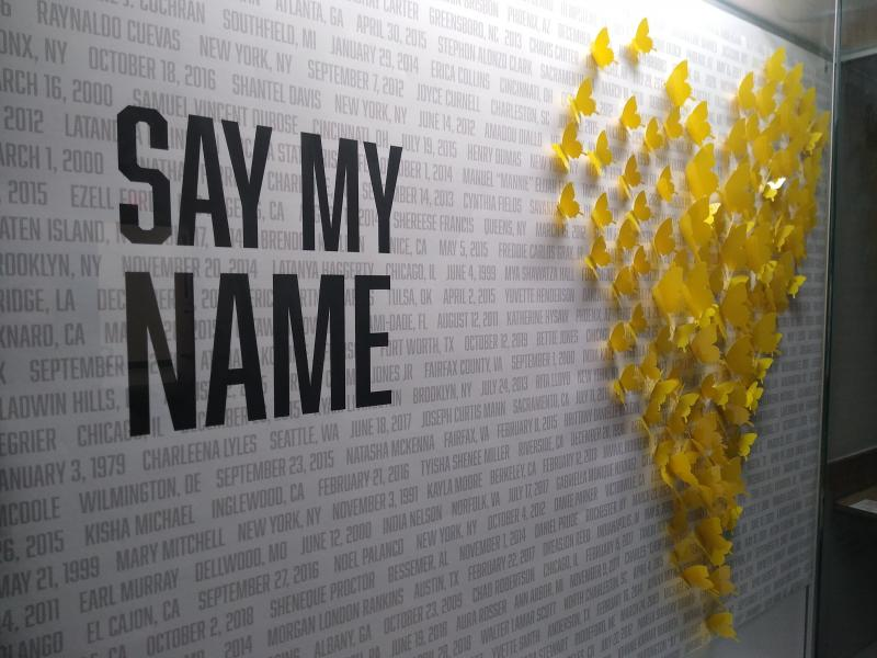 Say My Name Art Installation