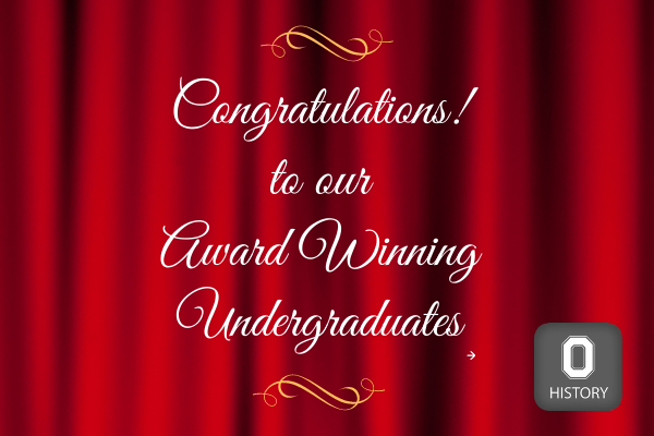 Congratulations to our award winning undergraduates
