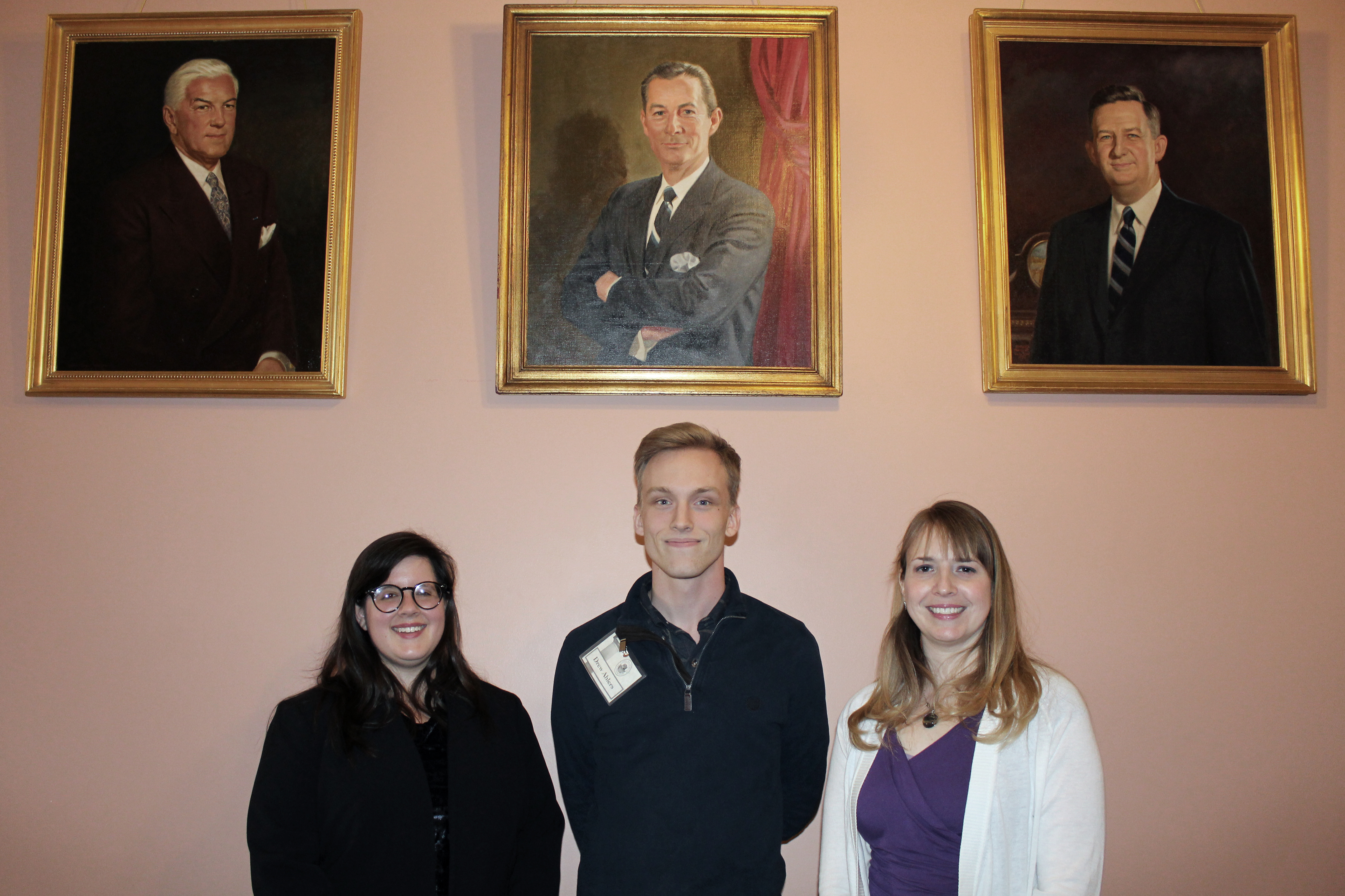 (L to R) Emily Volkman, Drew Ahlers and Dayna Jalkanen